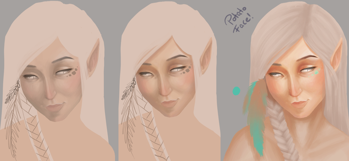 WIP - or WHY do all my faces look like potatoes?! by ToeToenia