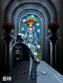 Darth Vader Visits the Tomb of Padme by Erik-Maell