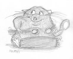 lil rat from Ratatouille by VinDeamer