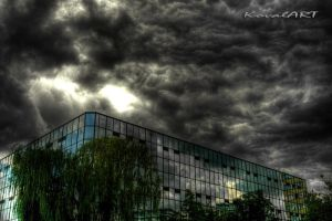 Building and sky by kovalart