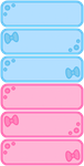FTU gallery icons: blue n pink ribbons by anineko