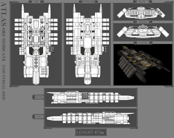 ORE INDUSTRIAL SHIP - ATLAS by MoonredStarblack