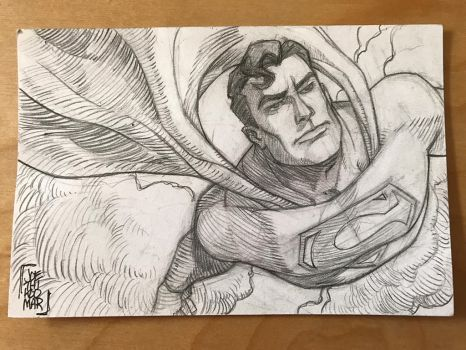 Superman Sketch Card by hyperjack08