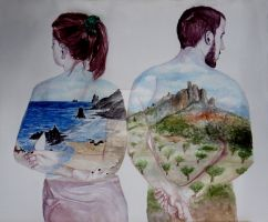 inner landscape, Cintia y Andres by lolalolita3