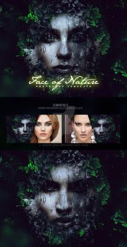 Face of Nature Photo Template by amorjesu
