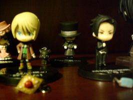Black Butler Figures :D by OppaFaustusStyle