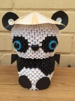 3D Origami Large Panda by tigsy-loves