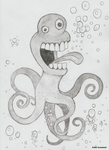 squid monster by rubbe