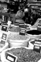 Feed Stall. Monochrome. by johnwaymont
