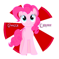 Pinkie Pie's Google Chrome Icon. by Flutterflyraptor