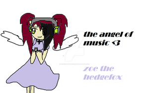 Zoe The Hedgefox The Angel Of Music by zoe123hedgefox