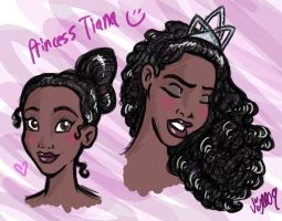 Princess Tiana sketches by Shmivv