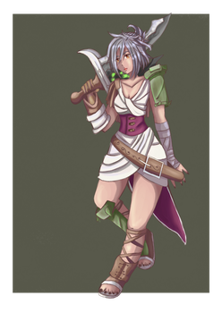 Riven from League of legends by AmyDrawArt