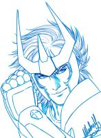 Phoenix Ikki from Saint Seiya by Washu-M