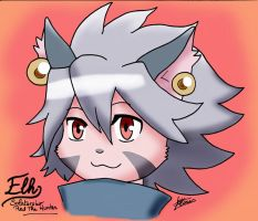 Solatorobo : Elh portrait by RougeBatGirl86