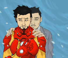 Tony and Howard Stark : PROUD by LadyNorthstar