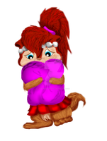 Sophy's hugging da pillow~ *Digital Colored* by TheThunderettes