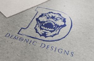 Demonic Designs single color logo by Car2nst