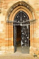 St Michaels, Linlithgow door by wildplaces