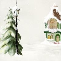 premade background winter 4 by H-stock