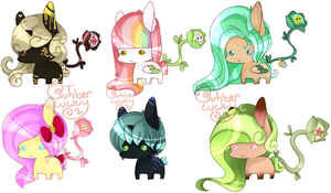 October Star Catcher Adopts by Ambercatlucky2