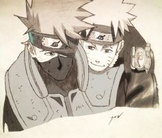 Naruto and Kakashi by KovenantKonceptions