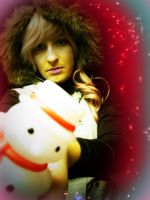 Snowman attack Lightning by Angiepureheart