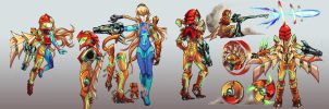 Metroid- Samus Redesign 2.0 by Hakuramen