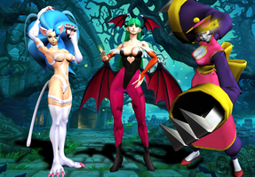 Crossover Combination #2 : Darkstalkers by Ternyon