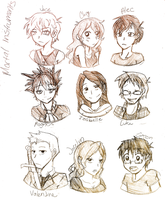 Mortal Instrument Characters by XxUkarixX