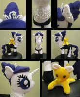 Rarity Golightly MLPlushie Nightmare Night Contest by rpm1337