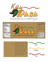 KayPasa Salsa logo and label by BlackCarrionRose