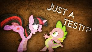 Just A Test!? - Wallpaper Twilight and Spike by Amoagtasaloquendo