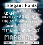 Elegant | FONTS | by WhatTheHellResources