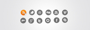 Simply Round Social Media Icons by softarea