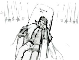 The King of Insanity reclines. by paorou
