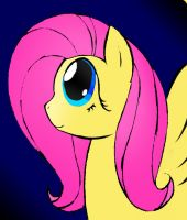 Fluttershy Colored... xD by MLOpl
