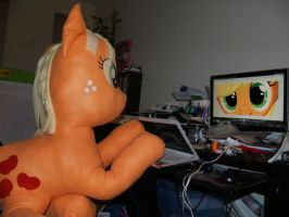 Apple Jack and the Computer by LilWolfStudios
