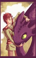 Hiccup and Toothless by Chidori-aka-Kate