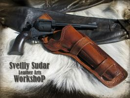 Leather holster for Ruger Super Blackhawk by Svetliy-Sudar