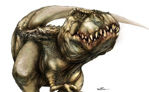 T-Rex2 colored 4 practice by SpicerColor
