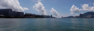 Victoria Harbour and Lei Yu Mun by RiverKpocc