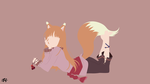 Holo (Okami to Koshinryo) Minimalist Wallpaper by slezzy7