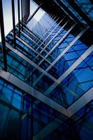 Blue Glass Wall by Lifebook