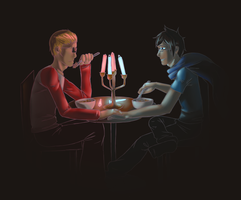 TG: Have Glowstick-Lit Dinner by Zemmer