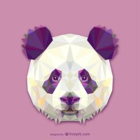 Triangle Panda (Vector) by HundredMelanie