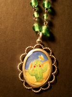 cactus necklace by Zephalynne
