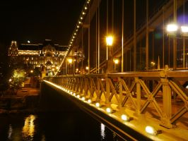 Budapest at night by borovin