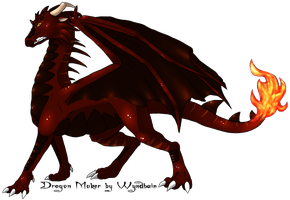 Fire Dragon by lilly-gerbil