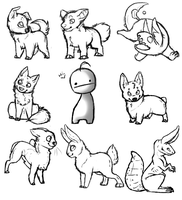 Icon doodles by Shiverra